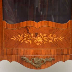 Antique French Inlaid Marquetry Display Cabinet