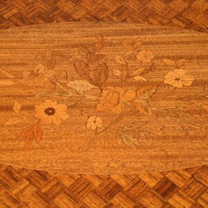 Antique French Inlaid Parquetry Coffee Table