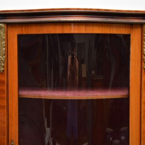 Antique French Inlaid Kingwood Display Cabinet