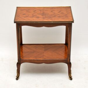 Antique French Inlaid Marquetry Side Table