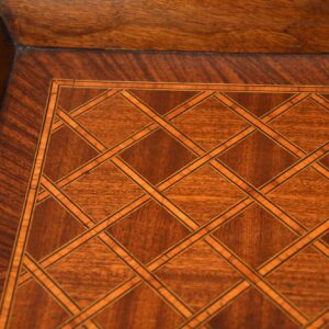 Antique French Parquetry Tray Top Coffee Table