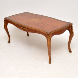 Antique French King Wood & Rosewood Coffee Table