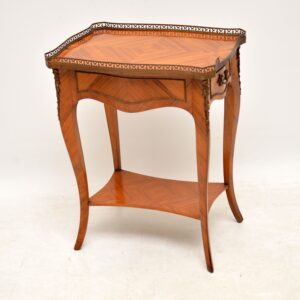 Antique French King Wood Side Table