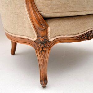 Antique French Louis Style Walnut Armchair
