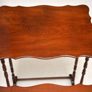 Antique Mahogany Nest of Four Tables