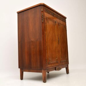 Antique French Gilt Bronze Mounted King Wood Cabinet