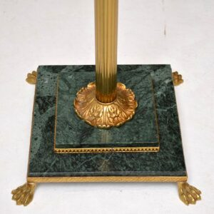 Antique French Marble & Brass Lamp