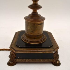 Antique French Gilt Metal & Marble Lamp