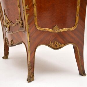 Antique French Marble Top Bombe Cabinet
