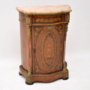 Antique French Style Marble Top Cabinet