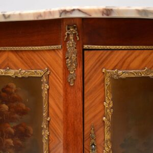 Antique French Marble Top Painted Cabinet
