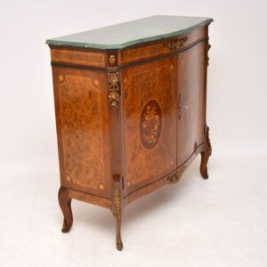 Antique French Walnut Marble Top Cabinet