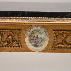 Antique French Marble Top Gilt Coffee Table