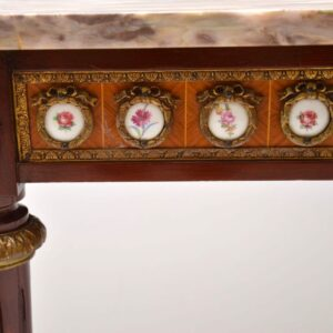Antique French Marble Top Console Side Table