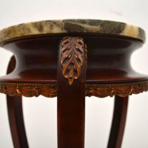 Antique French Marble Top Occasional Table