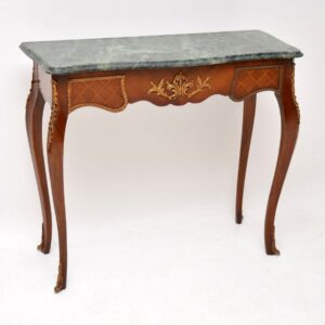 Antique French Marble Top Console Table