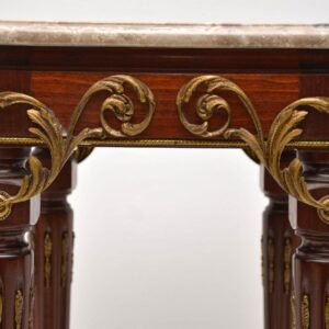 Antique French Marble Top Side Table Stand