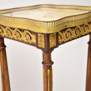 Antique French Marble Top Jardiniere Side Table