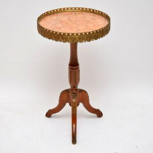 Antique French Style Marble Top Wine Table