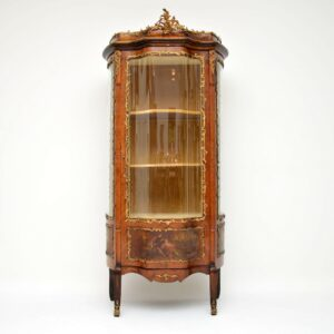 Antique French Ormolu Mounted Painted Vitrine Display Cabinet