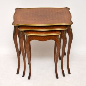 Antique French Parquetry Top Nest of Tables