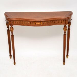 Antique French Kingwood & Walnut Console Table