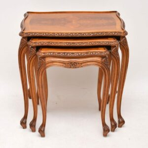 Antique French Walnut Nest of Tables