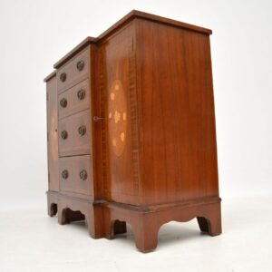 Antique Inlaid Mahogany Breakfront Sideboard