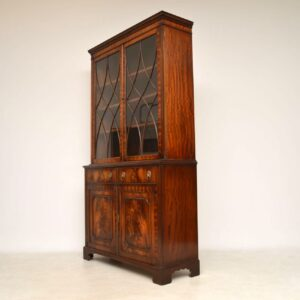 Antique Georgian Style Mahogany Bookcase