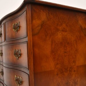 Antique Georgian Style Burr Walnut Chest of Drawers