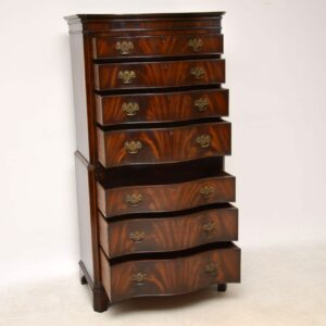 Antique Flame Mahogany Chest on Chest