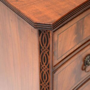 Antique Mahogany George III Style Concaved Chest of Drawers