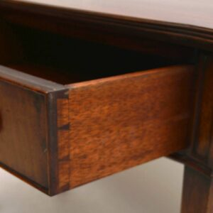 Antique Mahogany Bow Front Console Table