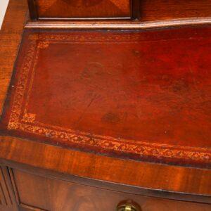 Antique Mahogany Bonheur Du Jour Writing Desk