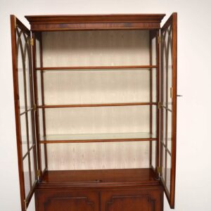 Large Antique Mahogany Display Cabinet
