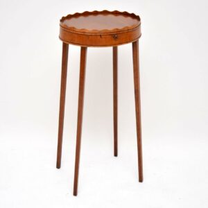 Antique George III Mahogany Kettle Stand / Side Table