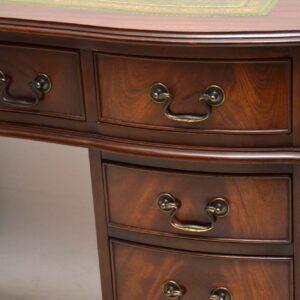 Antique Georgian Style Mahogany Pedestal Desk