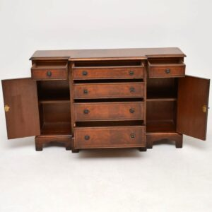 Antique Mahogany Breakfront Sideboard