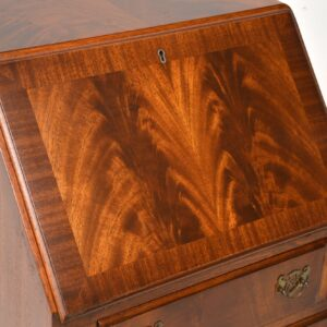 Slim Antique Mahogany Writing Bureau