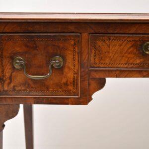Antique Georgian Inlaid Walnut Writing Table