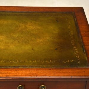 Antique 19th Century Mahogany Leather Top Writing Table