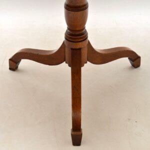 Antique George III Golden Oak Tilt Top Table