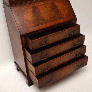 Antique Georgian Style Mahogany Bureau Bookcase
