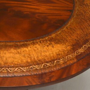 Antique Mahogany & Leather Coffee Table
