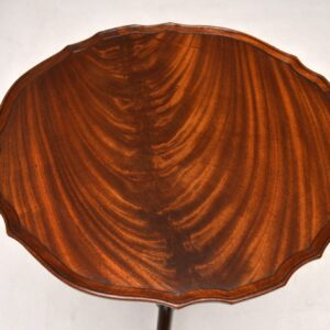 Antique Mahogany Pie Crust Occasional Table