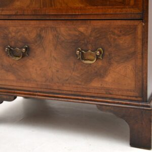 Antique Georgian Burr Walnut Bachelors Chest of Drawers