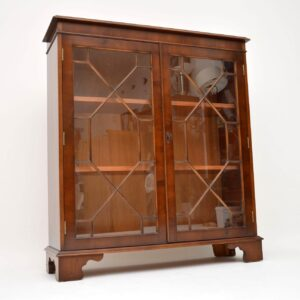 Antique Georgian Style Yew Wood Bookcase