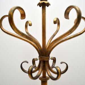 Mid-Century Gilt Metal Hatstand