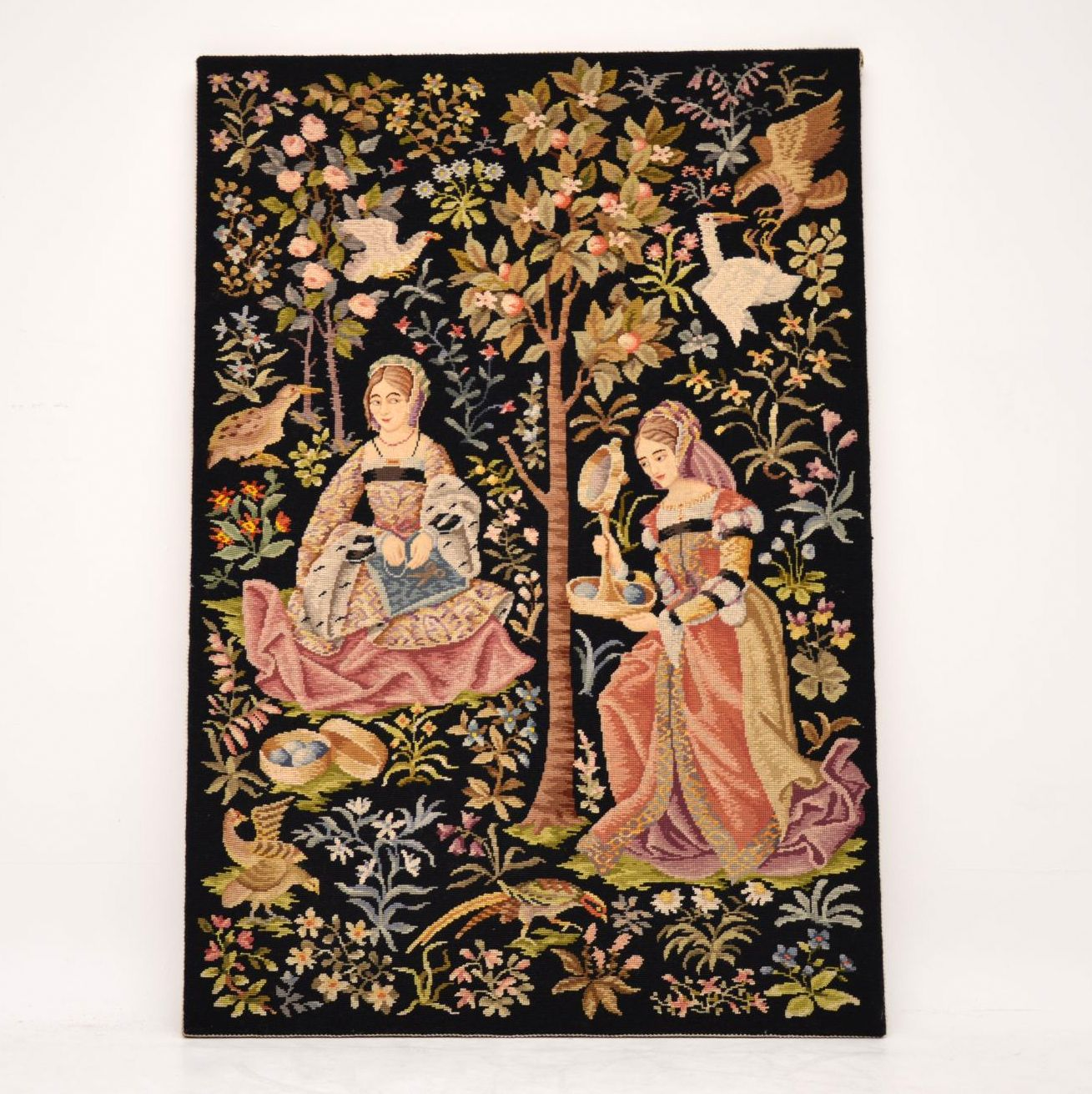 Antique Hand Stitched Tapestry