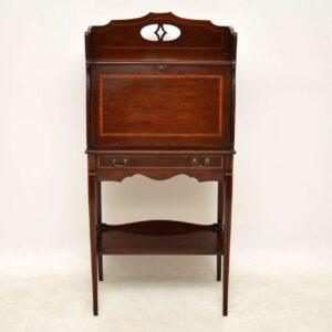 Antique Edwardian Inlaid Mahogany Writing Bureau